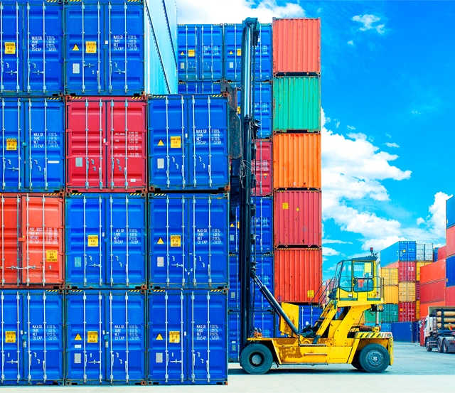 Container port lorry photograph