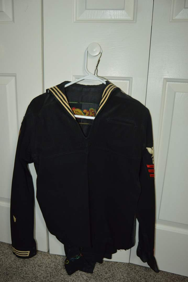 Lot # 67 US Coast Guard Military Uniform - Purchased by owner in 1962 - See Description (main image)