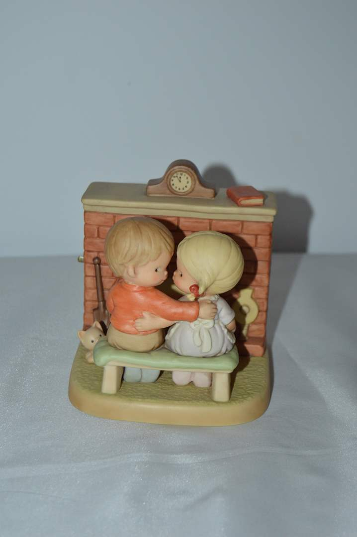 """Lot # 68 Enesco """"Home's a Grand Place To Get Back To"""" musical figurine (main image)"""