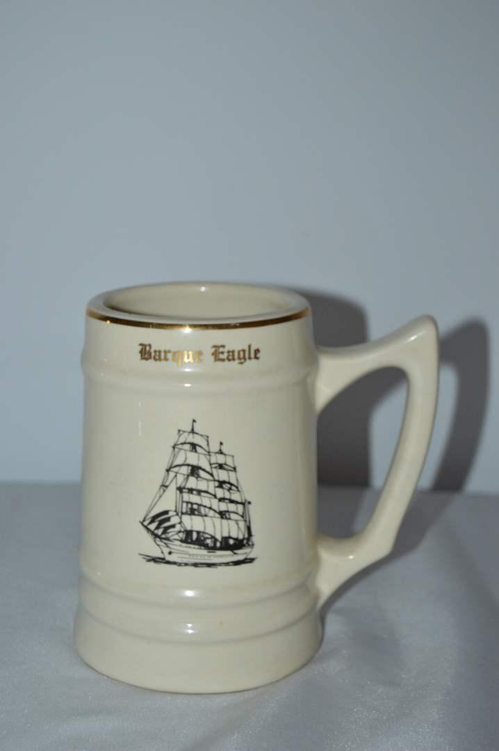 Lot # 117 W.C. Bunting Co. Barque Eagle Coast Guard mug (main image)