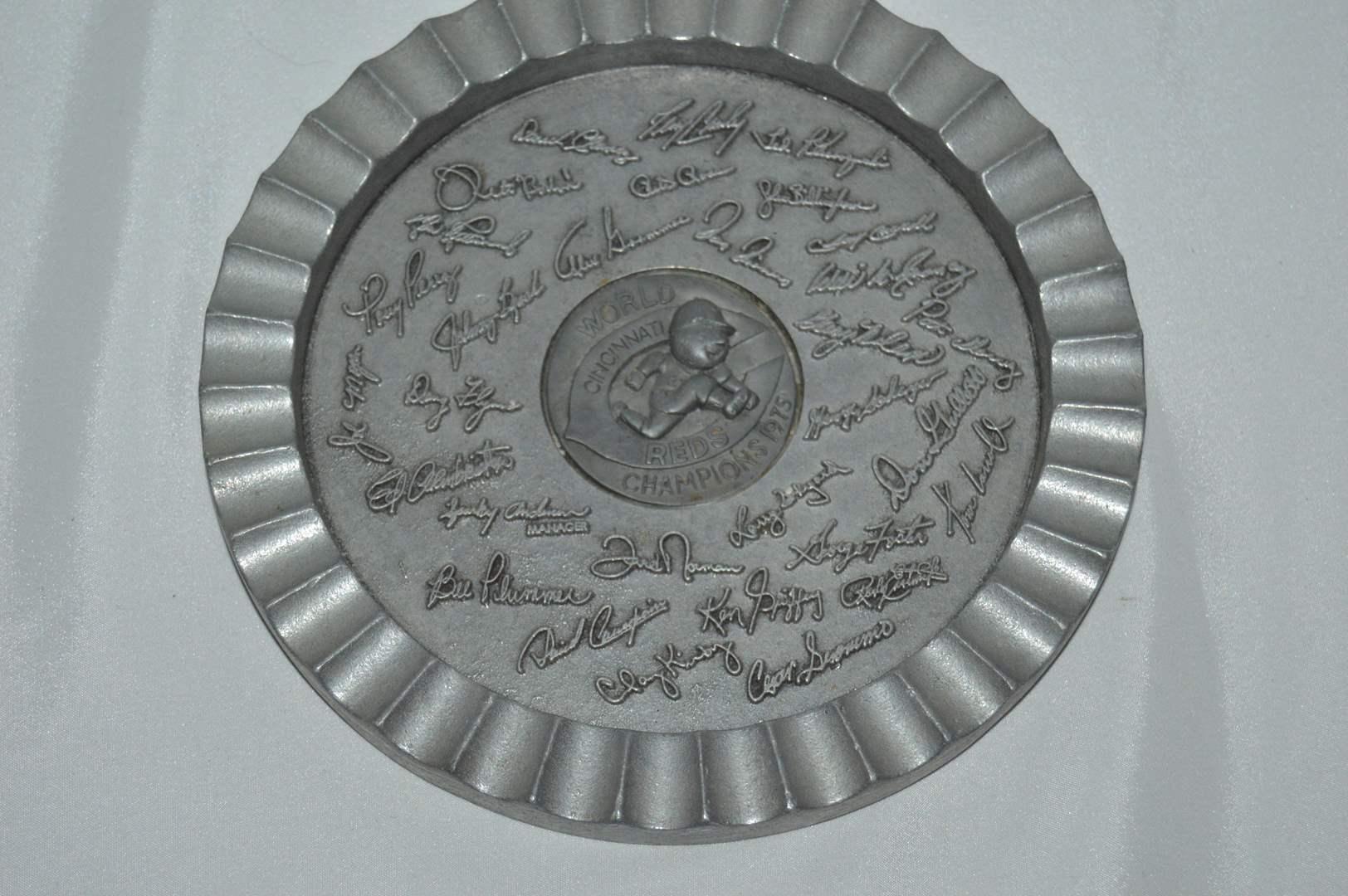 Lot # 124 Vintage Burkhardt's Cincinnati Reds world champions 1975 Metal wall art  (main image)