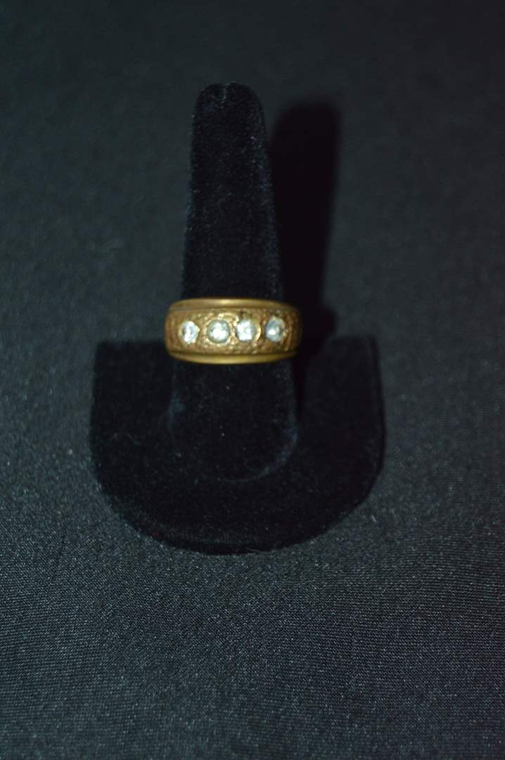 Lot # 151 14k gold plated men's ring - Size 10 (main image)