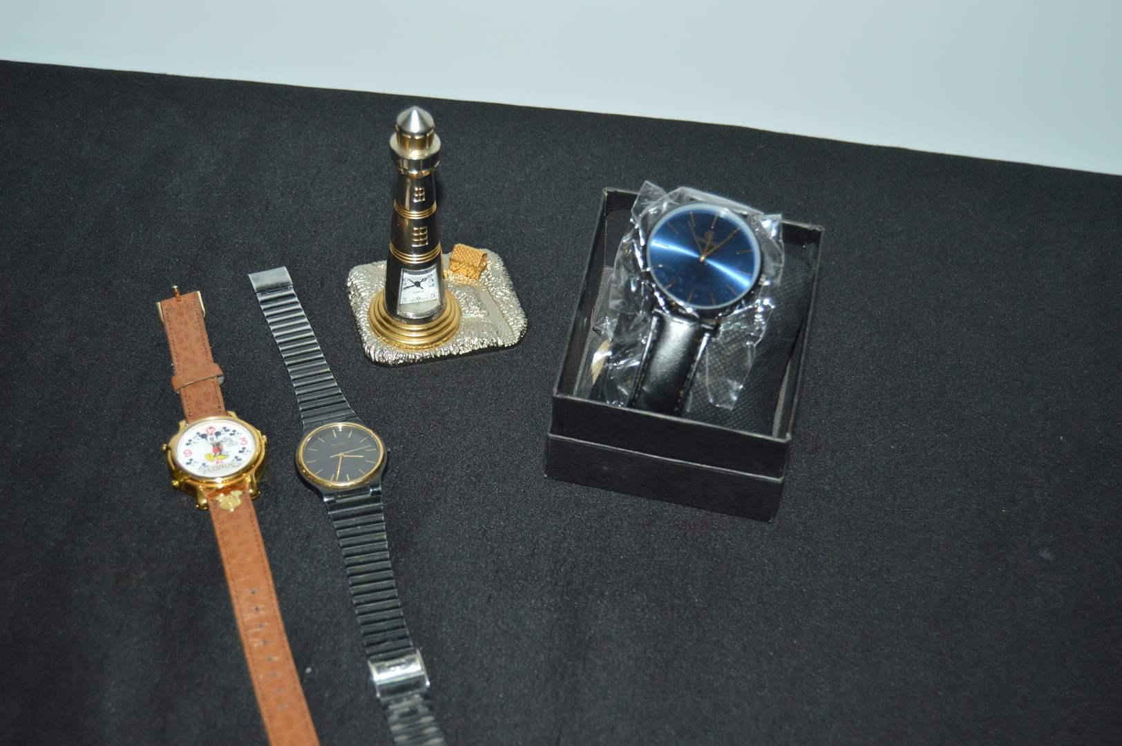 Lot # 153 Watches - Kemano, Mickey, Phasar & Platinum Quartz lighthouse (main image)