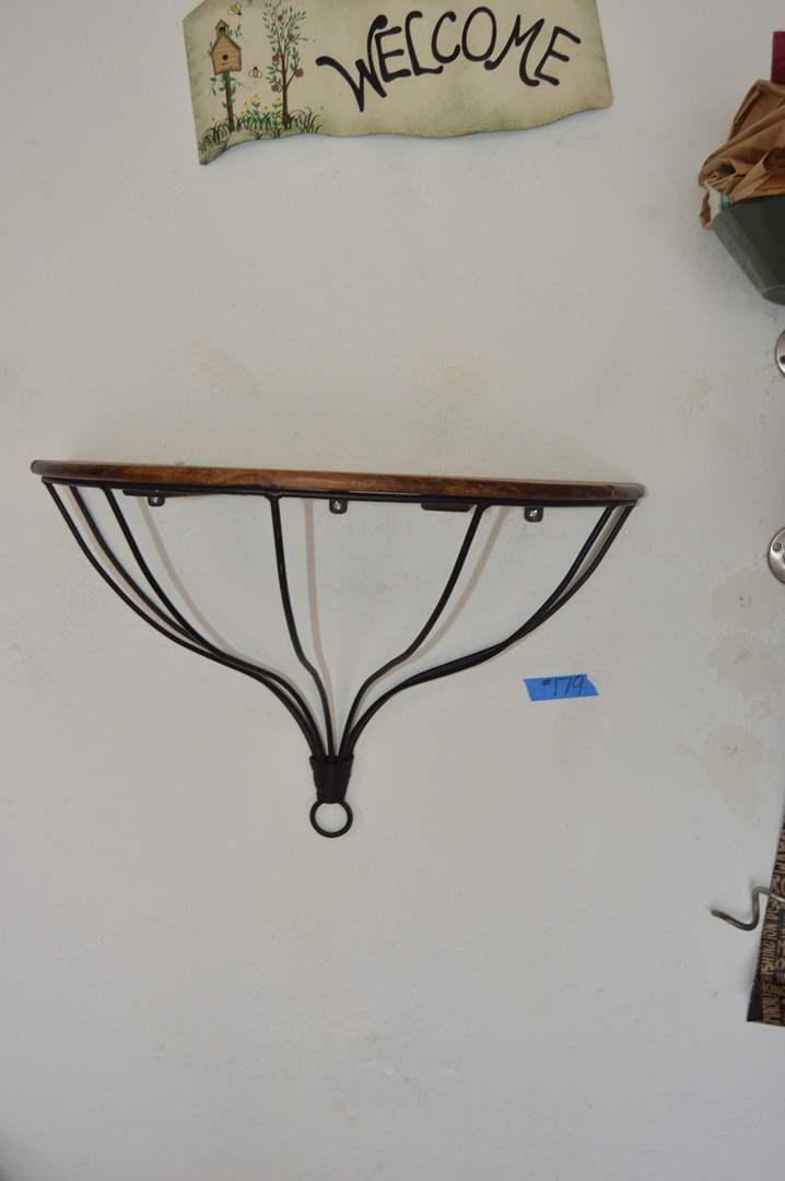 Lot # 179 Wood/metal wall shelf (main image)