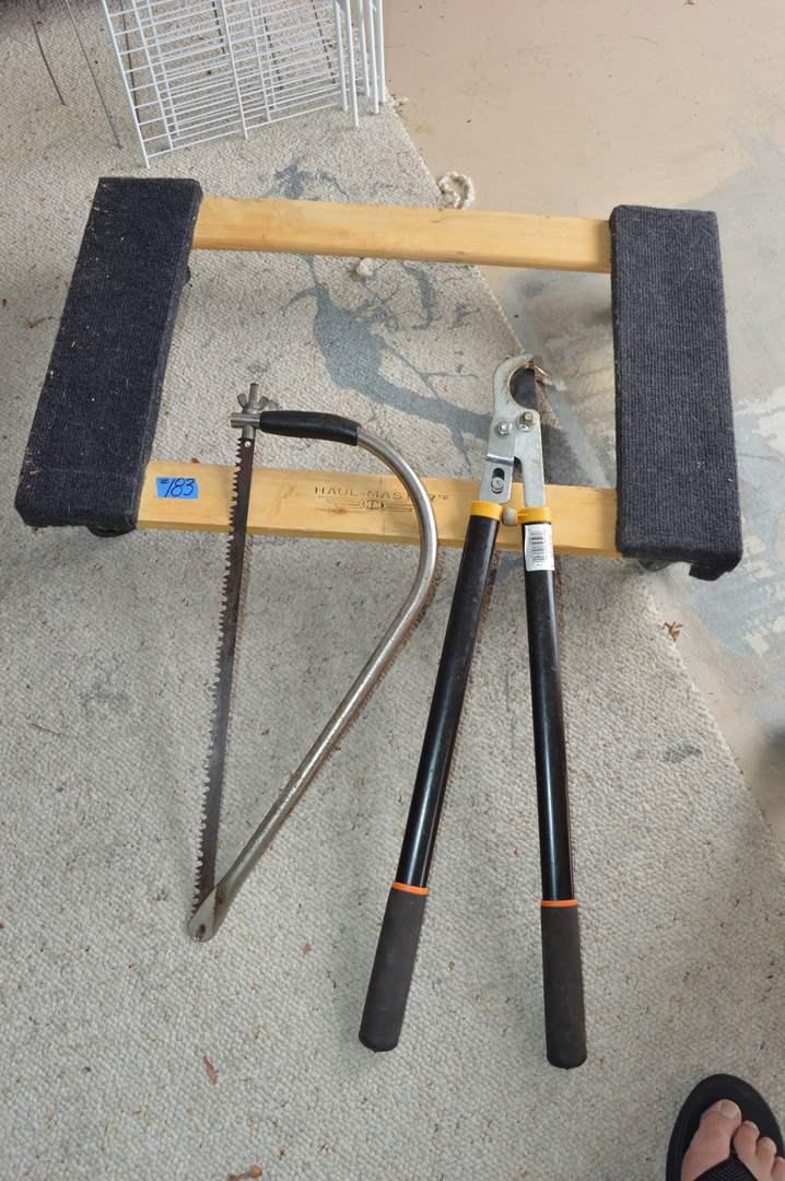 Lot # 183  Haul Master, hand saw & Fiskar hand clippers (main image)
