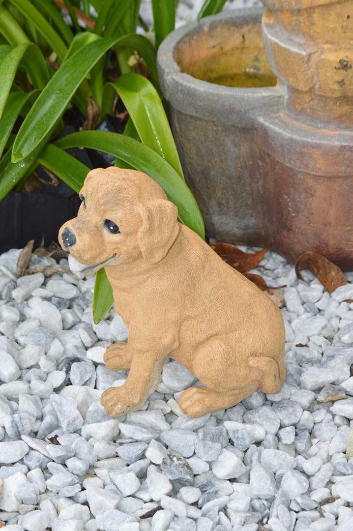 Lot # 223 Resin dog statue (main image)