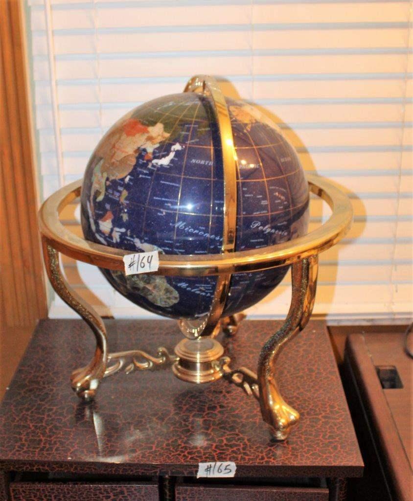 Lot#144 Gemstone World Globe  (main image)