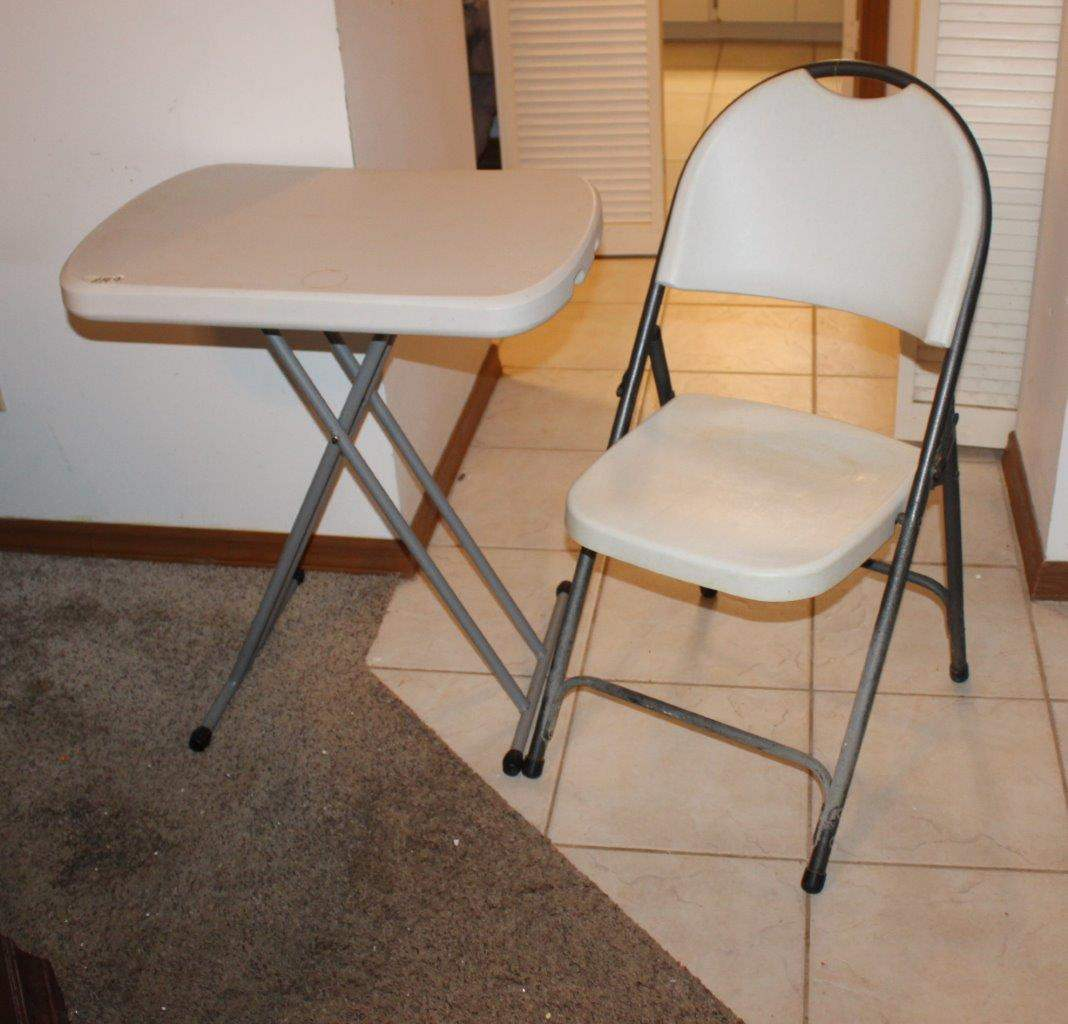 Lot#149 Folding Table & Folding Chair  (main image)