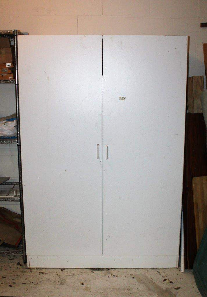"Lot#177 White Armoire Cabinet 48"" x 71""h - as is  (main image)"