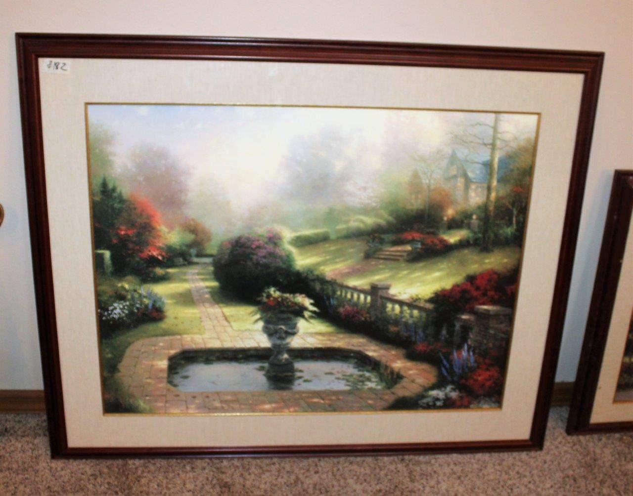 "Lot#182 Landscape Print Wall Art 43"" x 35""h  (main image)"
