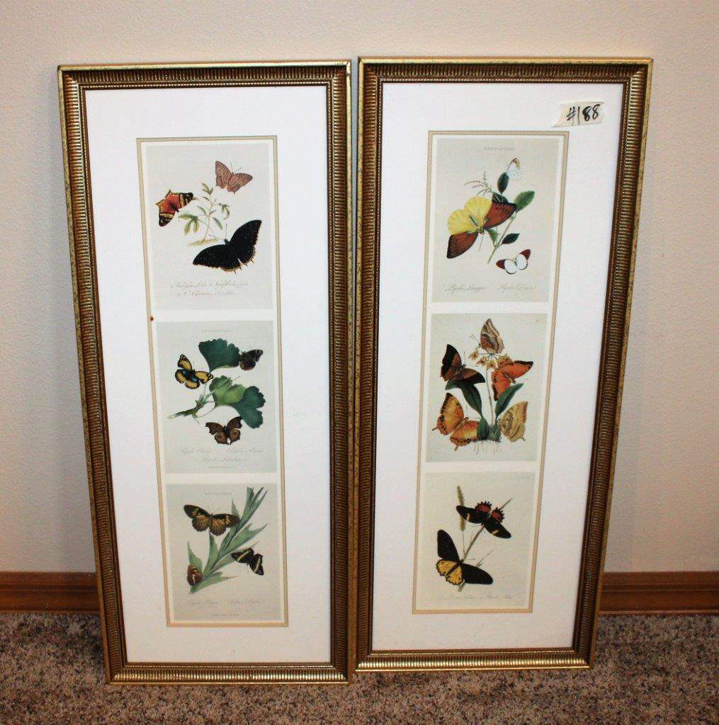 "Lot#188 2 Butterfly Wall Decors 12"" x 29""h (main image)"