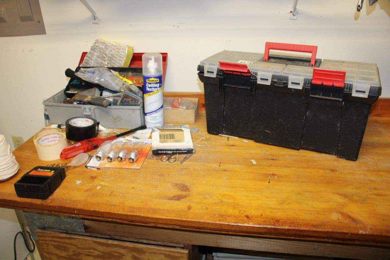 Lot#198 Toolboxes w/ tools & Garage Misc  (main image)
