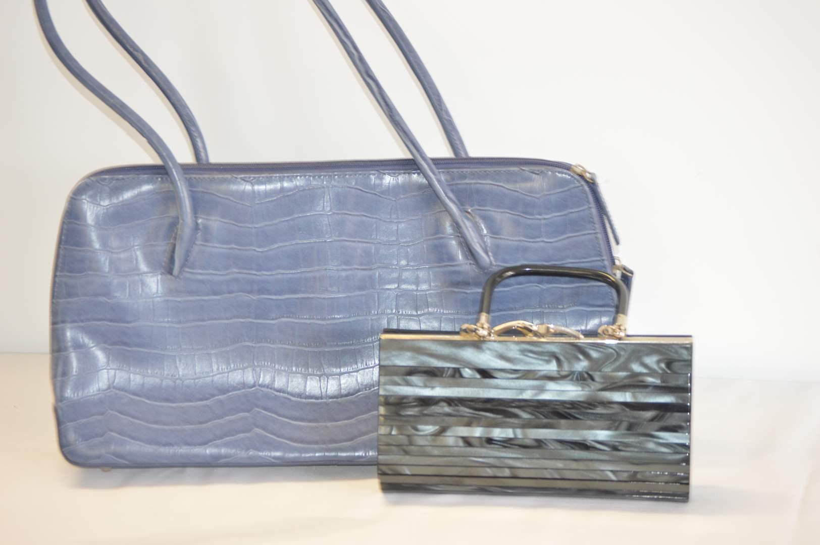 Lot # 8 Designer handbag and purse/clutch by L. Erickson (main image)