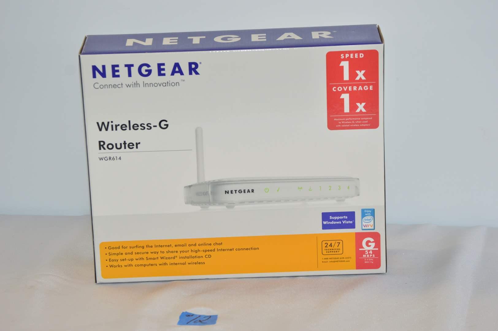 Lot # 12 Netgear wireless-G router (main image)