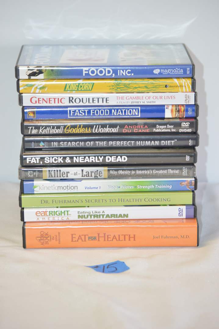Lot # 15 12 Health/Food DVD'S (main image)