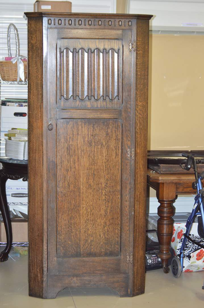 """Lot # 62 Beautiful antique solid wood """"Arighi Bianchi & Co. Limited"""" wardrobe (main image)"""