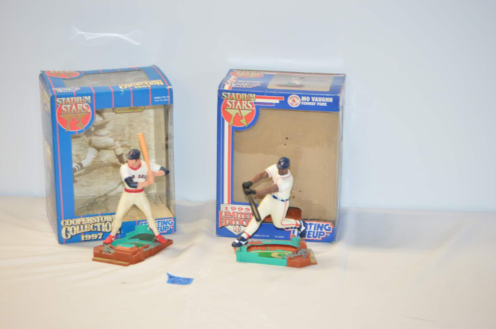 "Lot # 63 2 Starting Lineup  ""Stadium Stars"" Boston Red Sox Figures - Mo Vaughn and Carl Yastrzemski  (main image)"