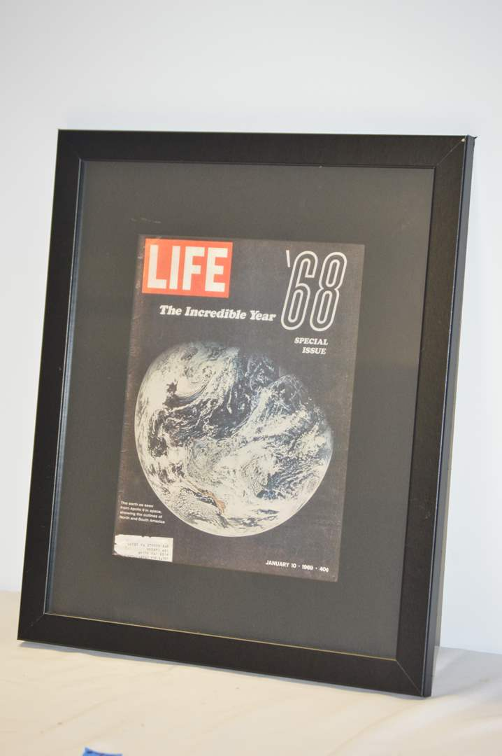 """Lot # 75 Professional framed copy of original 1969 """"The incredible Year"""" magazine (main image)"""