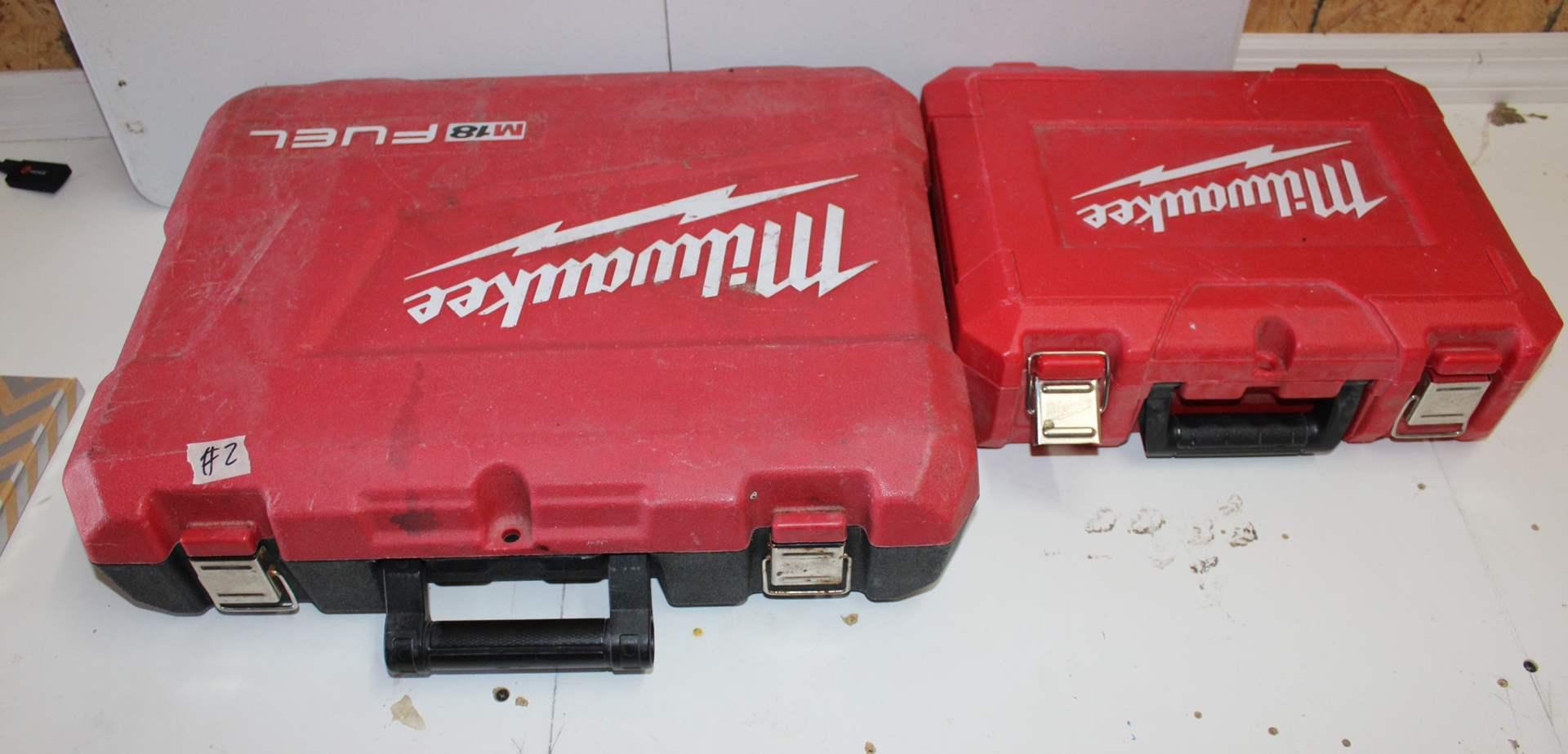 Lot#2 2-Milwaukee Tool Cases  (main image)