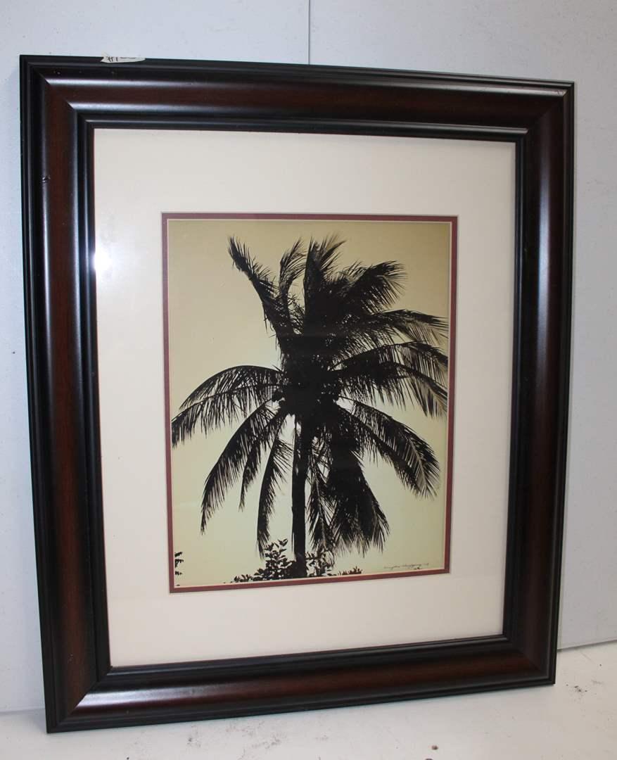 "Lot#123 Silhouette Palm Tree Wall Decor 20.5"" x 24.5""h  (main image)"